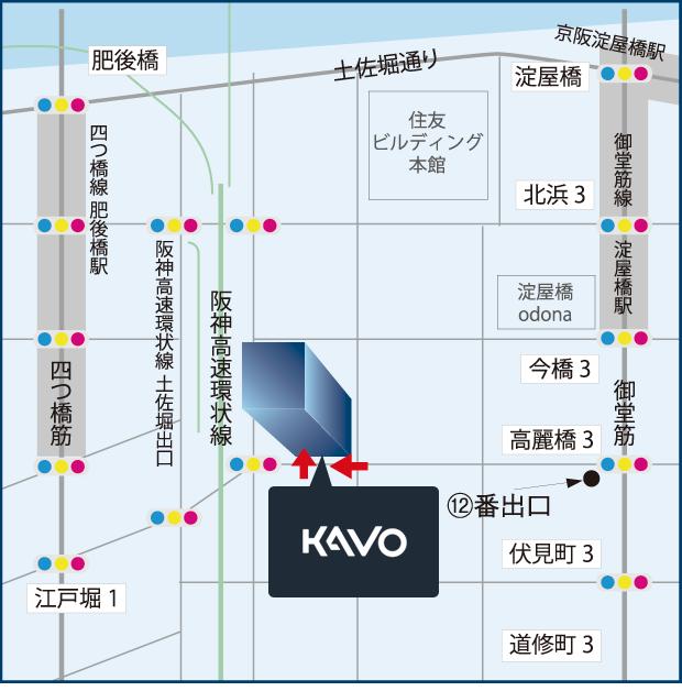 大阪ショールームの地図