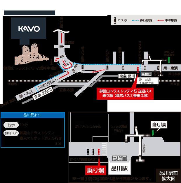 東京本社の地図