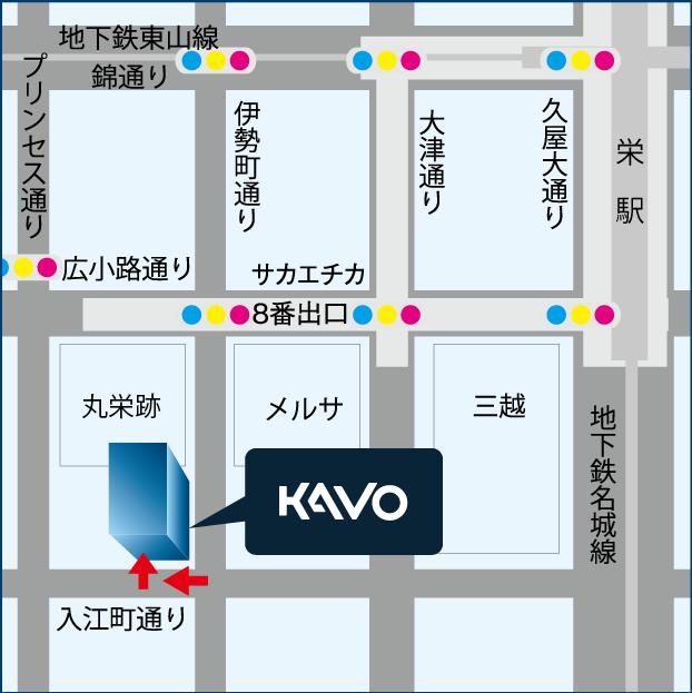 名古屋ショールームの地図